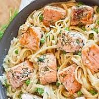 Pasta Salmon Spinach