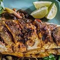 Seabass BBQ whole fish