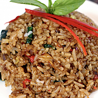 Kao Pad (fried rice with fish)