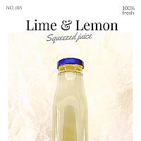 Lime & Lemon Juice(น้ำมะนาวผสมเลมอล)