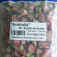 Frozen Rhubarb 1kg Bag