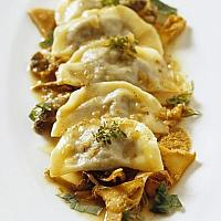 Ravioli with Porcini mushrooms and sauce