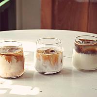 VEGAN Iced Caffe Latte