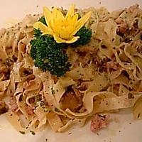 Tagliatelle porcini and sausage