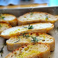 Bruschetta garlic oil and salt