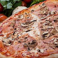Pizza ham & mushrooms