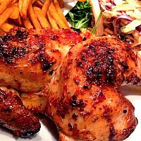 1/2 Grilled Chicken  and fries