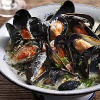 Mussels Poulette