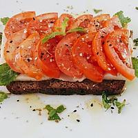 Vegan Italian Caprese Toast