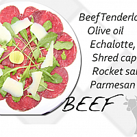 Beef Pesto Sauce Carpaccio