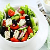 GREEK SALAD (FETA, OLIVES, OREGANO)