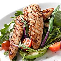 GRILLED CHICKEN-TENDERLOIN WITH SALAD