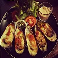 Baked NZ mussel