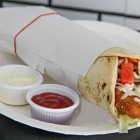 Chicken Schnitzel in Wrap