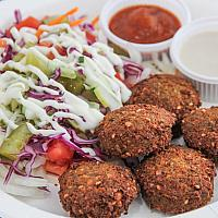 Falafel Plate with French Fries