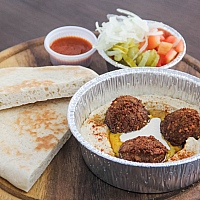 Hummus Plate with Falafel and Pita
