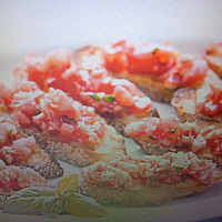 Crostini Toscana with Tomato