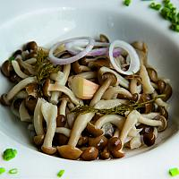 Home marinated mushrooms