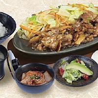 Buta Yakiniku Set (Hot Plate)