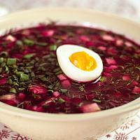 Cold beetroot  soup Svekolnik