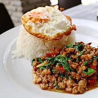 Stir-Fried Pork with Basil Leaves