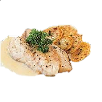 Grilled Fillet Sea Bass with Homemade White Sauce