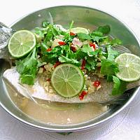 Steamed Whole Seabass Spicy Lime