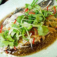 Steamed Whole Seabass Ginger Soy Sauce