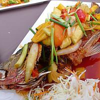 Deep Fried Whole Seabass Sweet Sour