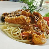 Spaghetti Seafood Arrabiata