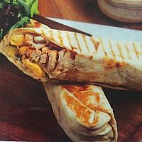 Chicken shawarma pitta wrap