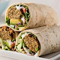 Falafel pitta wrap