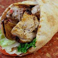 Chicken shish kebab pitta wrap
