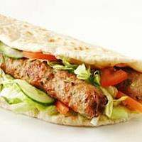 Kebab pitta wrap