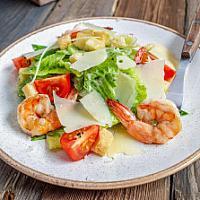 Ceaser salad with tiger prawns