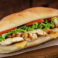 Grilled Chicken Baguette Sandwich