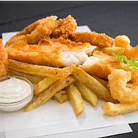 Fish & Chip + Fried Prawns