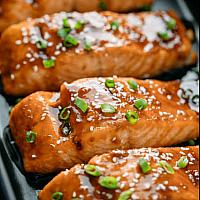 Teriyaki Salmon Steak