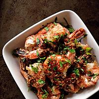 Garlic & Pepper Prawns