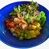 Grilled Prawn Avocado Mango Salad