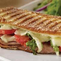 Baguette Panini with Grilled Beef