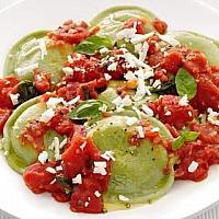 Ravioli spinach ricotta+tomato