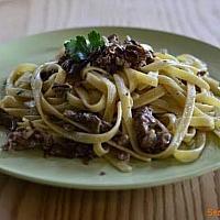 Spaghetti salsiccia Funghi