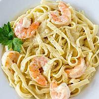 Fettucine Shrimp Alfredo