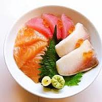 DO-09 Salmon & Tuna & Hamachi Don