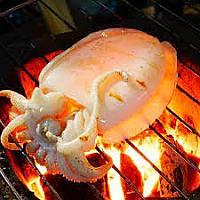 grill squid หมึกย่าง