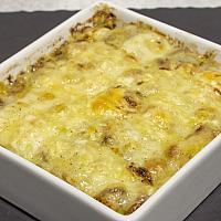 Gratin d'asperges blanches au jambon, sauce Mornay