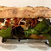 Sourdough Baguette Sandwich with grilled lemongrass chicken
