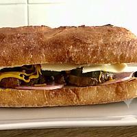 Sourdough Baguette sandwich (cuban)