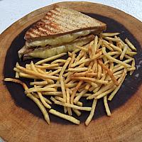 Ham & Cheese Toastie with thin fries